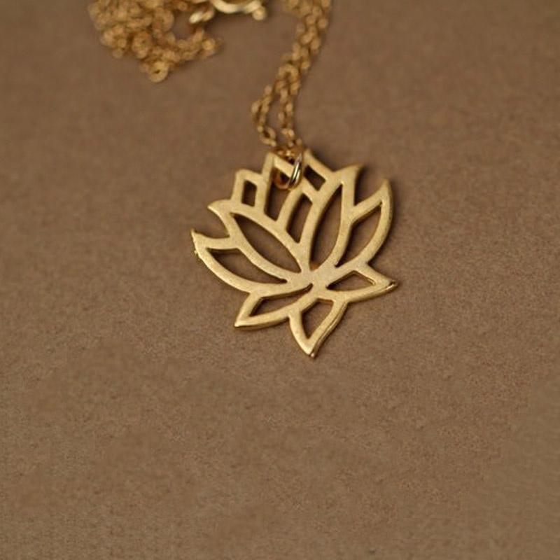 The blooming lotus gold lotus flower pendant necklace a zen hut the blooming lotus gold lotus flower pendant necklace aloadofball Gallery
